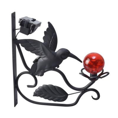 Solar Powered Outdoor LED Hummingbird Plant Light
