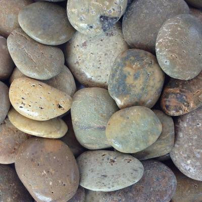0.25 cu. ft. 5/8 in. - 7/8 in. Brown Mexican Beach Polished Pebble