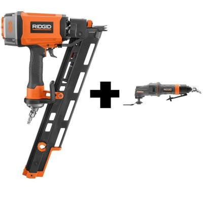 3-1/2 in. 15° Round Head Framing Nailer and Pneumatic JobMax Multi-Tool Starter Kit