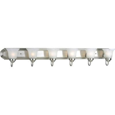 6-Light Brushed Nickel Vanity Fixture