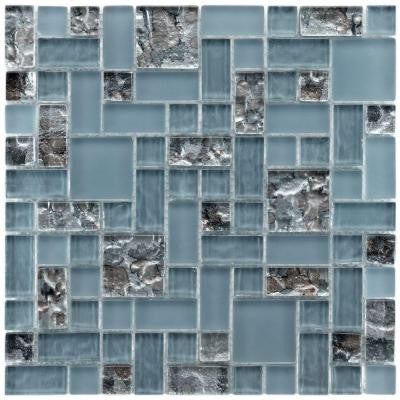 Tessera Versailles Vesuvius 11-3/4 in. x 11-3/4 in. x 8 mm Glass Mosaic Wall Tile