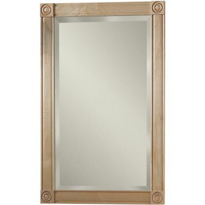 Soho 17.188 in. W x 27.438 in. H x 5.25 in. D Recessed Mirrored Medicine Cabinet Maple Frame