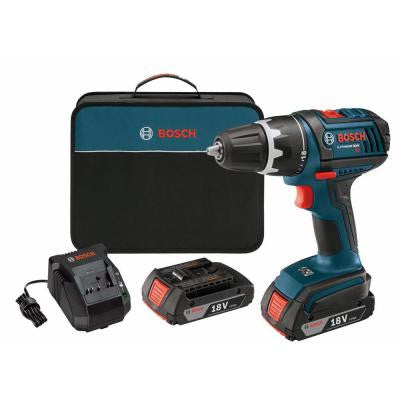 18-Volt Lithium-Ion 1/2 in. Cordless Compact Tough Drill/Driver Kit with (2) 2.0Ah Battery