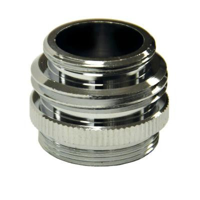 15/16 in.-27M / 5/64 in.-27F x 3/4 in. GHTM or 55/64 in.-27M Chrome Multi Thread Garden Hose Aerator Adapter