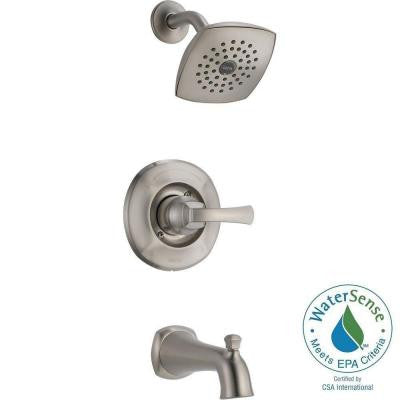 Mandara 1-Handle Tub and Shower Faucet in Stainless