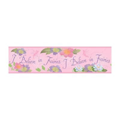 6 in. H Believe in. Fairies Border