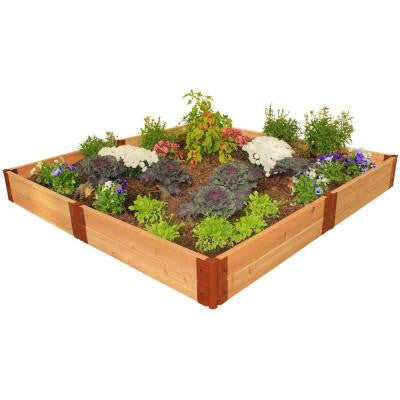 Two Inch Series 8 ft. x 8 ft. x 12 in. Cedar Raised Garden Bed Kit