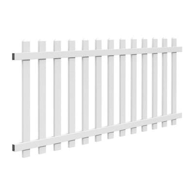 4 ft. x 8 ft. Vinyl Glendale Picket Fence Panel