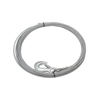 25 ft. x 5/32 in. Galvanized Steel Wire Rope with Hook