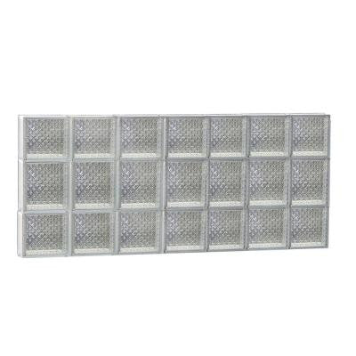 40.125 in. x 19.25 in. x 3.125 in. Diamond Pattern Non-Vented Glass Block Window
