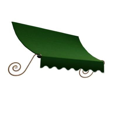 12 ft. Charleston Window/Entry Awning (24 in. H x 36 in. D) in Forest