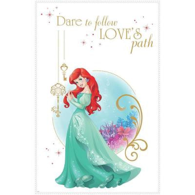 2.5 in. W x 27 in. H Disney Princess Ariel 2-Piece Peel and Stick Giant Wall Graphic