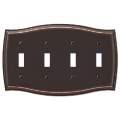 Sonoma 4 Toggle Wall Plate - Steel Aged Bronze