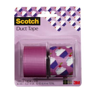 Scotch 1.42 in. x 5 yds. Cupcakes Duct Tape (2-Pack)
