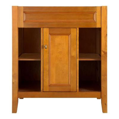 Exhibit 30 in. W x 21.63 in. D x 34 in. H Vanity Cabinet Only in Rich Cinnamon