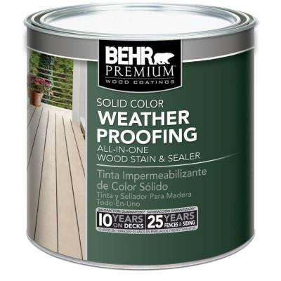 8 oz. Tintable Solid Color Weatherproofing All-In-One Wood Stain and Sealer Sample