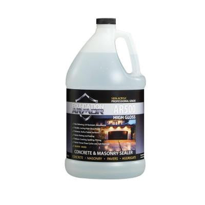 AR500 Ultra Low VOC 1 gal. Clear Wet Look High Gloss Acrylic Concrete, Aggregate and Paver Sealer