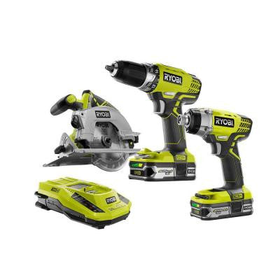 ONE+ 18-Volt Lithium-Ion Cordless Combo Kit (3-Tool)