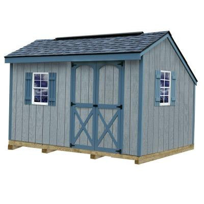 Aspen 8 ft. x 12 ft. Wood Storage Shed Kit with Floor including 4 x 4 Runners