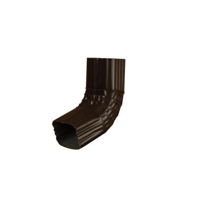 2 in. x 3 in. Musket Brown Aluminum Downspout A Elbow