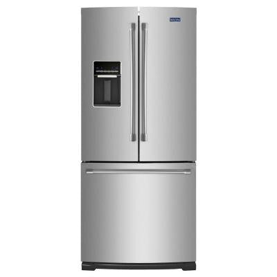 30 in. W 19.6 cu. ft. French Door Refrigerator in Stainless Steel