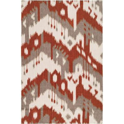 Bururi Adobe 3 ft. 6 in. x 5 ft. 6 in. Flatweave Area Rug