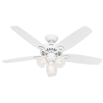 Builder Plus 52 in. 3-Light White Ceiling Fan