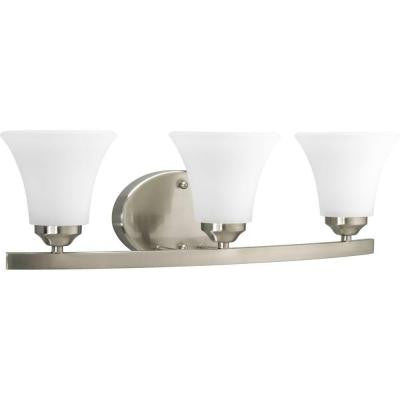 Adorn Collection 3-Light Brushed Nickel Vanity Fixture