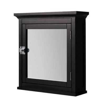 Wilshire 18.25 in. W x 19 in. H x 6 in. D Surface Mount Mirrored Medicine Cabinet in Dark Espresso