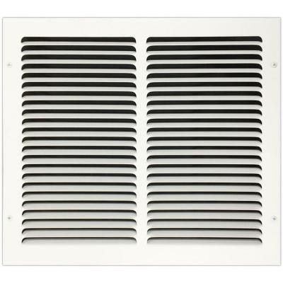 14 in. x 12 in. Return Air Vent Grille with Fixed Blades, White