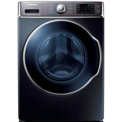 30 in. W 5.6 cu. ft. High-Efficiency Front Load Washer with Steam in Onyx