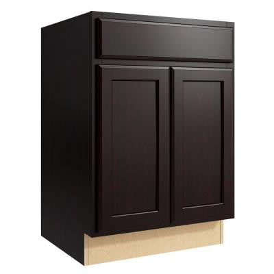 Stig 24 in. W x 34 in. H Vanity Cabinet Only in Coffee
