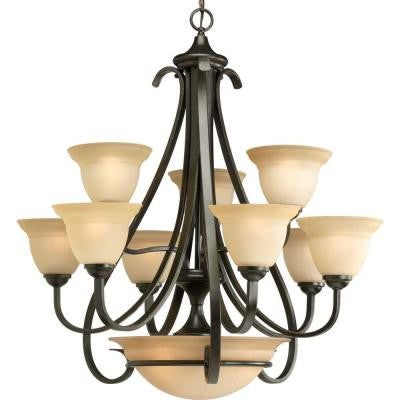 Torino Collection 9-Light Forged Bronze Chandelier