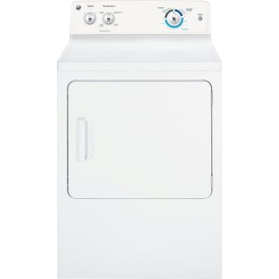 6.8 cu. ft. Gas Dryer in White