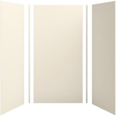 Choreograph 48in. X 36 in. x 96 in. 5-Piece Shower Wall Surround in Almond for 96 in. Showers
