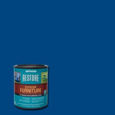 1 qt. Deep Blue Outdoor Furniture Coating