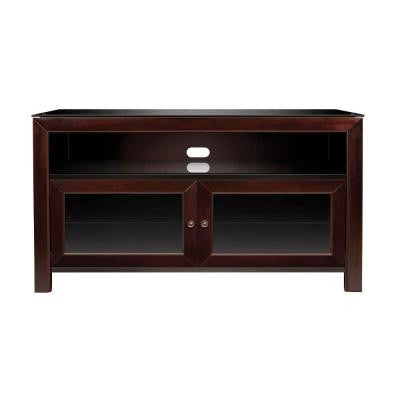 50 in. 3-Shelf Audio/Video Cabinet - Deep Mahogany