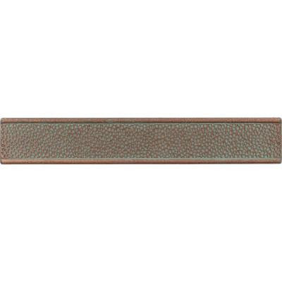 Castle Metals Aged Copper 2 in. x 12 in. Metal Composite Hammered Border Trim Wall Tile