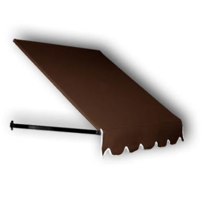 25 ft. Dallas Retro Window/Entry Awning (56 in. H x 48 in. D) in Brown