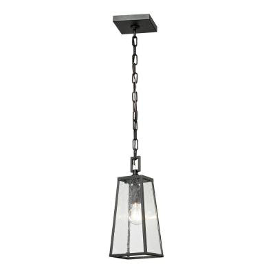 Mediterano 1-Light Charcoal Outdoor Hanging Lamp