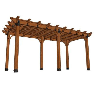 10 ft. x 20 ft. DIY Western Red Cedar Pergola in Vineyard
