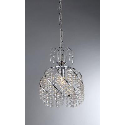 Catherine 1-Light Chrome Crystal Chandelier