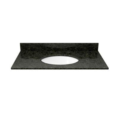 31 in. Granite Vanity Top in Uba Tuba with White Basin