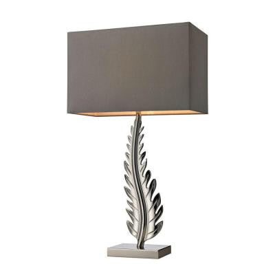 Oak Cliff 27 in. Chrome Table Lamp with Shade