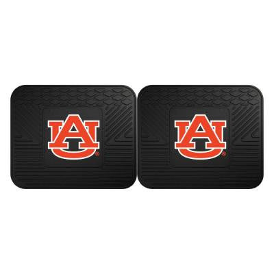 NCAA Auburn University Black Heavy Duty 2-Piece 14 in. x 17 in. Vinyl Utility Mat