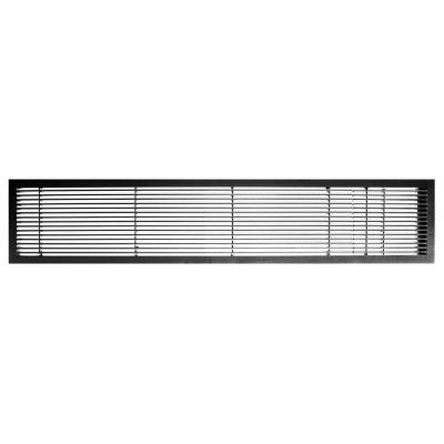 AG10 Series 4 in. x 48 in. Solid Aluminum Fixed Bar Supply/Return Air Vent Grille, Black-Matte with Door