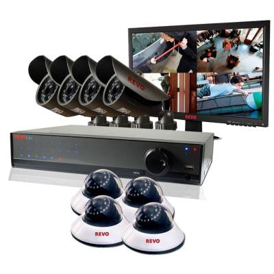 Lite 16-Channel 2TB DVR Surveillance System with (8) 660TVL Cameras and Monitor