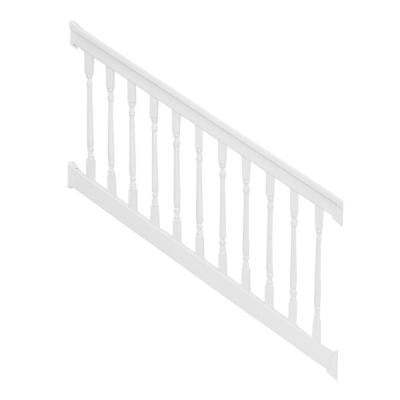 Delray 3.5 ft. x 96 in. Vinyl White Stair Railing Kit