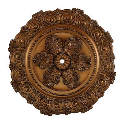 Marietta 33 in. Antique Bronze Ceiling Medallion
