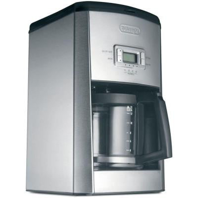 14-Cup Programmable Coffee Maker in Stainless Steel